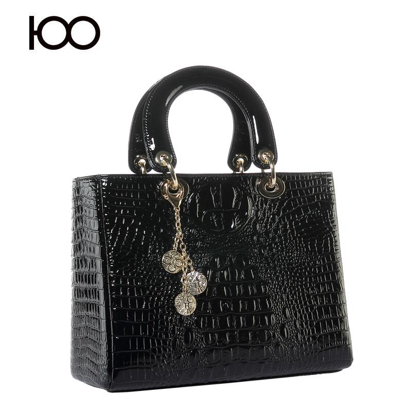 Hot sale crocodile bags leather bag handbag women elegant evening bag(China (Mainland))