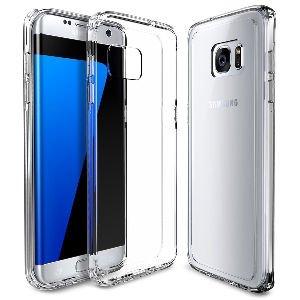 For Samsung Galaxy S7 Edge Case,ULAK [CLEAR SLIM] Premium Transparent Back Shock Absorption Case Cover for Galaxy S7 Edge(China (Mainland))