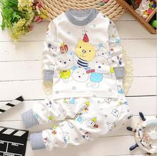 2 Pcs Baby Sleepwear Set Bear Family Dot Long Sleeves Girls Boys Baby Clothing Sets Suits Touca Infantil #2415(China (Mainland))