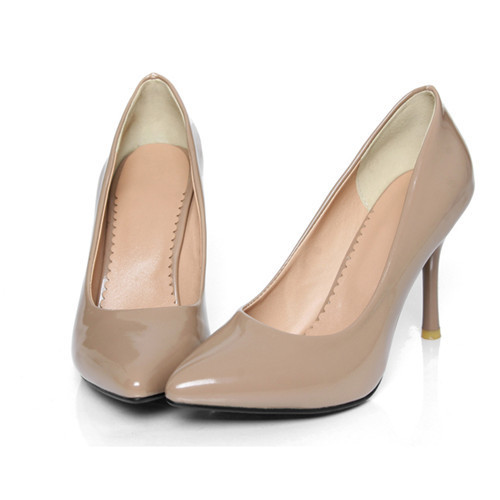 Large size 9 10 Fashion Thin High Heel Pumps Ladys Causal Patent Leather Pointed Toe Candy Color Shoes<br><br>Aliexpress