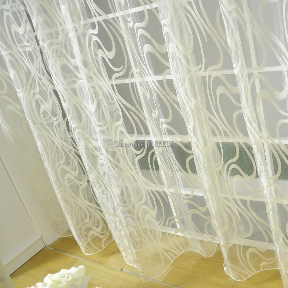 Buy free shipping striped organza tulle - Modern fabrics for curtains ...