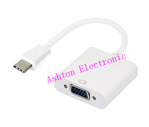 2015 newest Interfaced computers micro USB3.1 Type-C connector to VGA cable and tablet usb extension cable free shipping(China (Mainland))