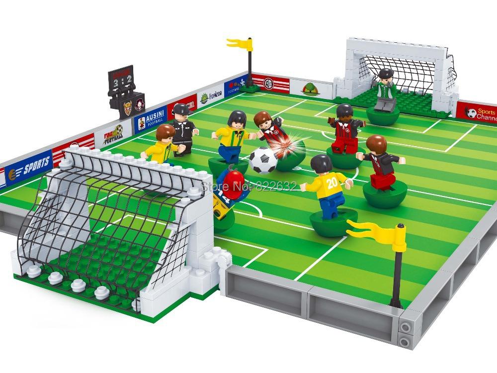 Football Toys For Boys : Hot toy ausini building blocks world cup football pitch