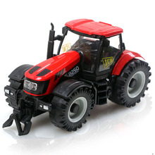 Happy farmer tractor car Diecast Metal toy with light music simulation car boy's favorite vehicle model toy gift for boy tractor(China (Mainland))
