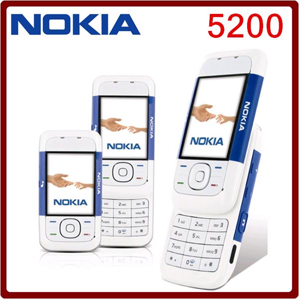 5200 Original CellPhones GSM slider bluetooth camera Fm Radio java mobile phone Free shipping(China (Mainland))