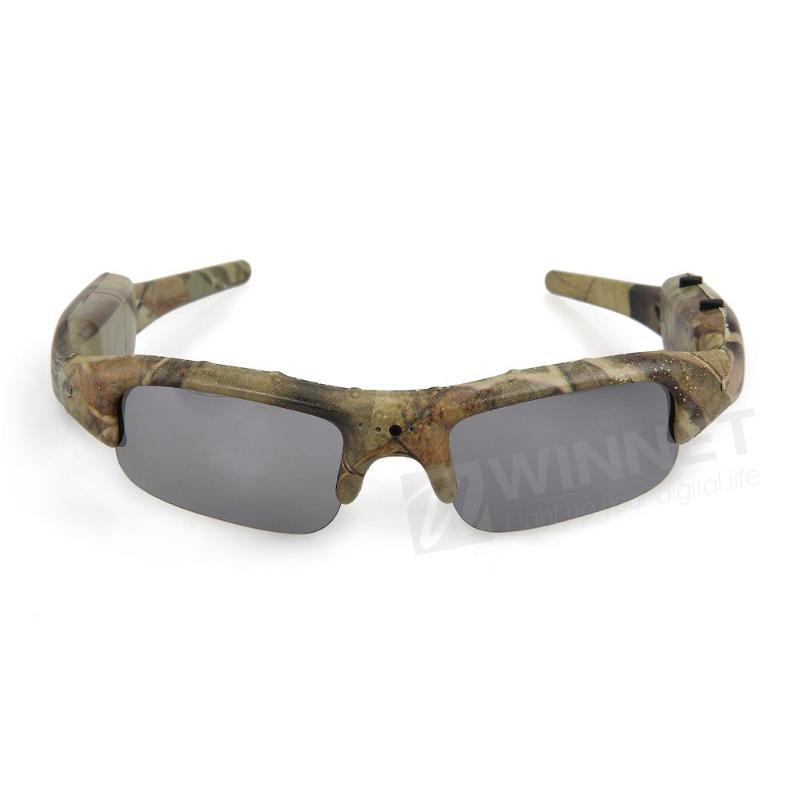 12MP Camouflage Mini DV Sunglasses Camera Audio Video Recorder Eyewear DVR(China (Mainland))