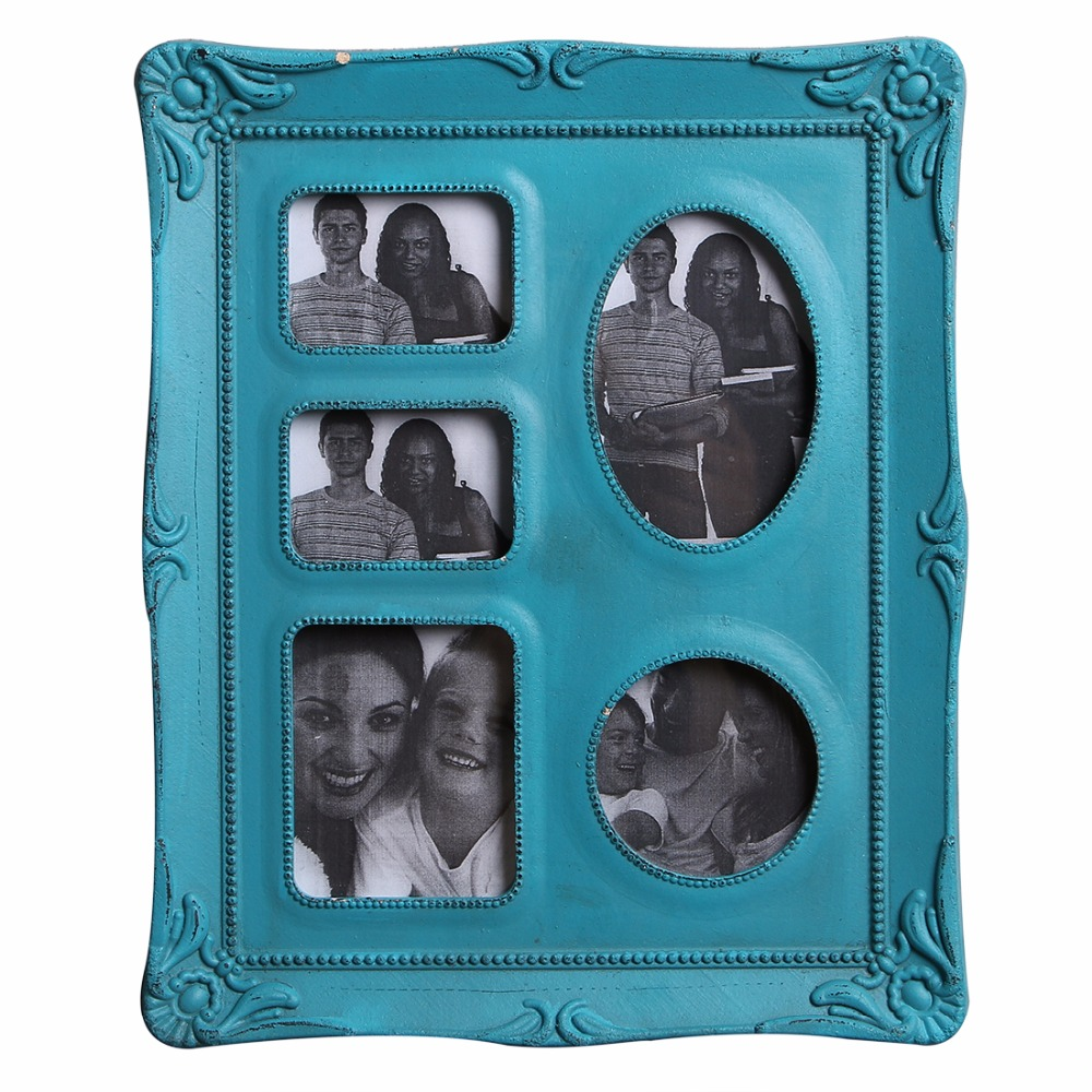 Creative Home Decor Household Essentials Retro Wood Rectangle Wall-mounted Picture Photo Frame White, Gray, Blue Color Available(China (Mainland))
