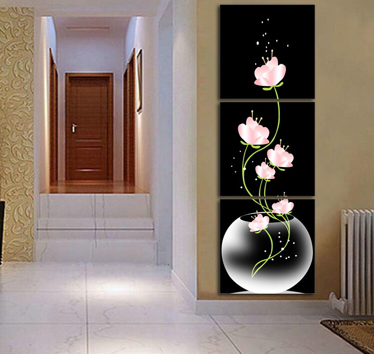 3p Modern Painting Home Decorative Art Picture Paint on Canvas Prints One fascinating Narcissus Shipping(China (Mainland))