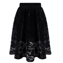 New Summer Women long Skirt Fashion High Waist Skirt Casual Tutu Solid Color Hot Sale