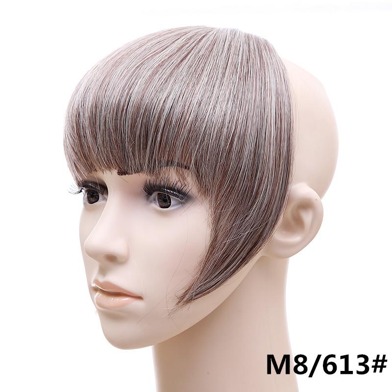 Jeedou короткий передний аккуратный челка клип короткая заколка для волос прямые 8613.2_
