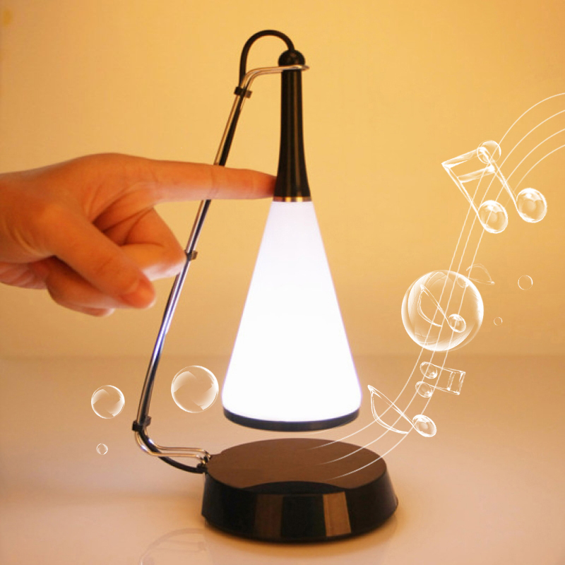 Touch sensor led night lights chargeable desk lamp touch table lights with mini speaker music player for MP3 PC(China (Mainland))