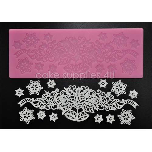 Sweet Lace Cake Decorating : Hot selling Sweet lace mat Christmas pastry silicone mat ...