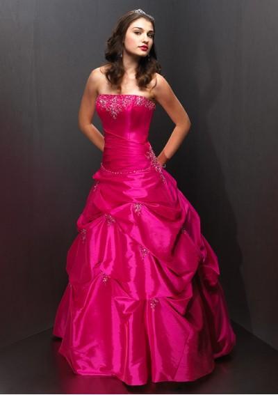 Taffeta strapless sleeveless line beading lace-up top seller floor length quinceanera dress prom dresses - beautiful_dress store
