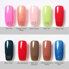 UV Nail Gel Polish UV LED Shining Colorful 80 Colors 6ml Long Lasting Soak off Varnish