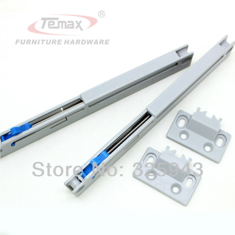 2PCS Kitchen Cabinet Gliding Sliding Soft Close Drawer Slides Cupboard Hydraulic Buffer Damper Hardware(China (Mainland))