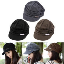 Korean Version Spring and Winter Gorro Cap Lady's Fashion Drape Delicate Women Hats 3 Solid Color High Quality Free Shipping(China (Mainland))