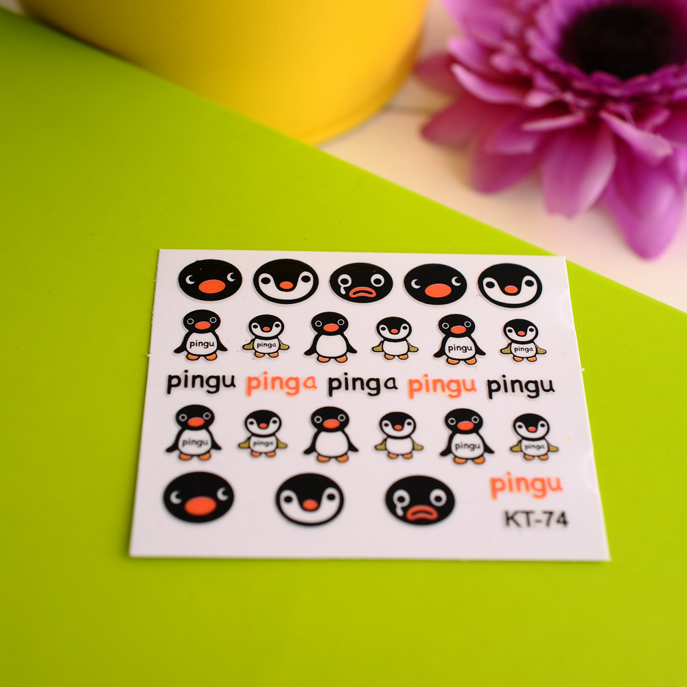 New Fashion Cute Pro 3D Cartoon Penguin Decal Stickers Nail Art Manicure Tips DIY Sell Hotting High Quality(China (Mainland))
