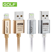 GOLF 3m 8pin USB Data Sync Charge Cable For iPhone 5 5s 6 6s Plus iPad Air 2 mini 2 iOS9 Fast Transmission Wire Charging Line 2m(China (Mainland))