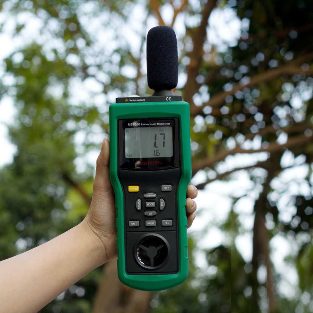 Auto/Manual Digital Multifunctional Environment Detector LCD Display Tester For Food Environmental Protection Industry <br>