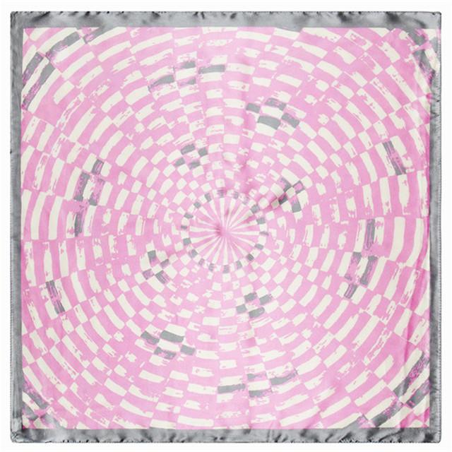 60 см * 60 см геометрический круг шаблон лабиринт на рабочих местах женщин костюм небольшая площадь шарфы оптовая продажа AliExpress