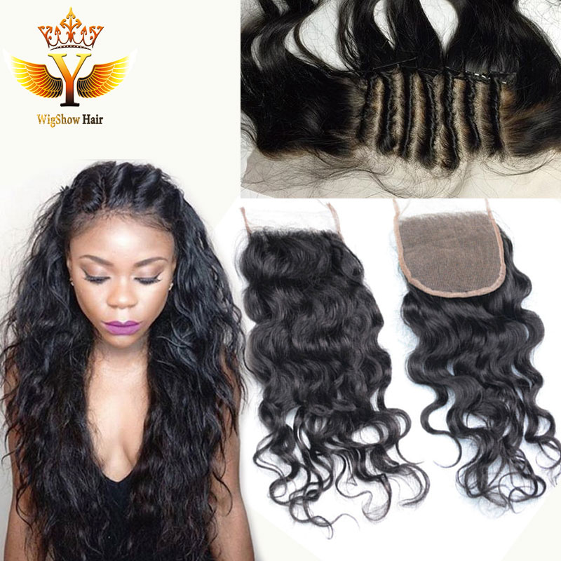 Brazilian Deep Curly Lace Closure Bleached Knots Virgin Human Hair Closure Free Middle 3 Part Lace Front Closure With Baby Hair<br><br>Aliexpress
