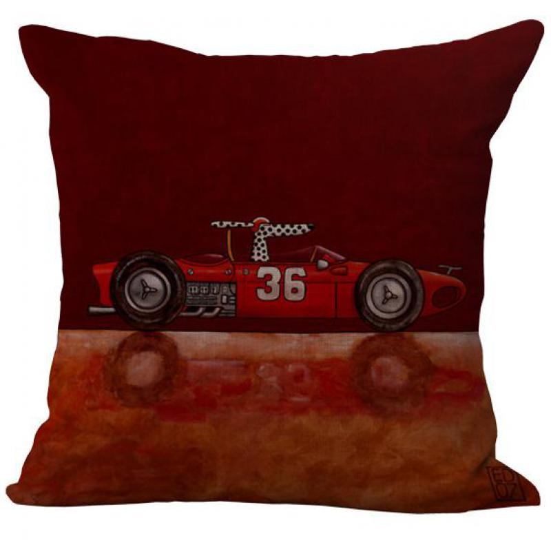 Hot Selling Cartoon Driving Dog Pattern Decorative Throw Pillow Case Cotton Linen Cushion Cover For Sofa