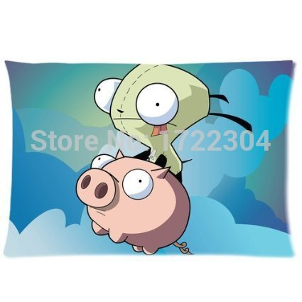 LUQI Bedding Set 20x30 inch Twin Sides Pillow Case Invader Zim And Pig Soft Decorative Cotton Pillowcase-in Pillow Case from Home & Garden on Aliexpress.com | Alibaba Group