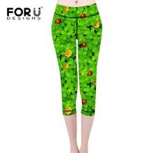 Buy FORUDESIGNS Leggings Women Four Leaf Clover Ladybug Printed Girls Floral Leggins Womens Bottom Pants Pencil Workout Leggings for $17.37 in AliExpress store