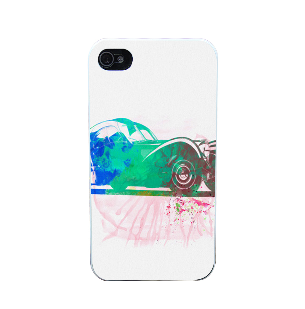 60901i Bugatti Atlantic Watercolor 1 Style Phone Case Shell Hard White Case Cover for iPhone 4 5 6 s plus(China (Mainland))