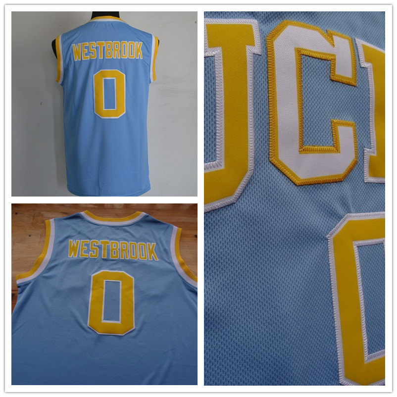 Russell Westbrook UCLA Jersey,Best Quality #0 Russell Westbrook UCLA Bruins Blue Stitched Jersey Fast Shipping(China (Mainland))