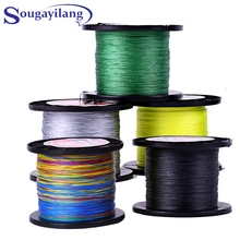 Sougayilang 500M Multifilament PE Braided Fishing Line 0.4-8.0# 12-72LB  Super Strong Braided Line Fishing Lines Tackle pesca(China (Mainland))