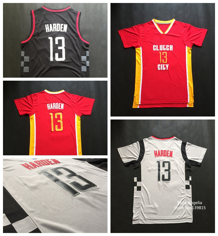 Гаджет  James Harden Red Pride Clutch City Jersey ,Houston #13 James Harden Red Pride Grey Black Short Sleeves Basketball Jerseys None Спорт и развлечения