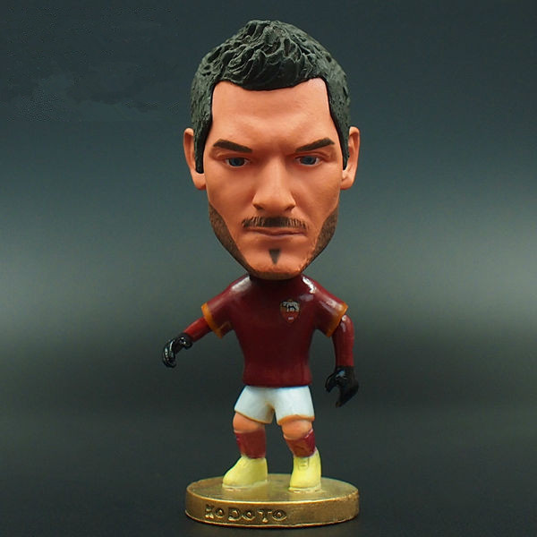 SPORT TIME Soccerwe Serie A ROma 2.55 Inches Height 10 Resin Francesco Totti figure Red(China (Mainland))