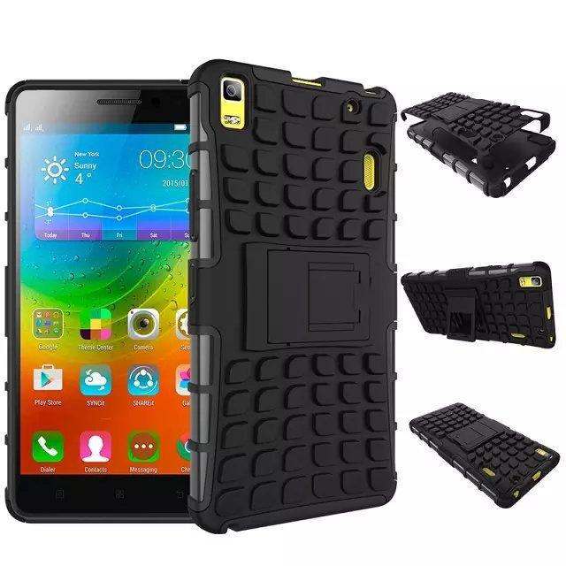 "Здесь можно купить  For Lenovo A7000 Case Hybrid Kickstand Rugged Rubber Armor Hard PC+TPU StandFunction Cover Cases For K3 Note 4G LTE (5.5"") 10pcs  Телефоны и Телекоммуникации"