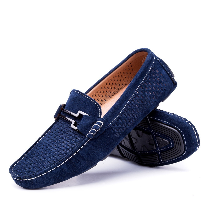 Leather Mens Loafers Formal Shoes 2015 Spring Slip On Flats Loafers Casual Summer Driving Shoes ...