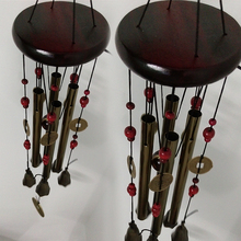 1PCS Ancient Chinese custom Style   4 Tubes 5 Bells Copper Wind Chime  Garden Ornament Aeolian Bell  decoration for home(China (Mainland))