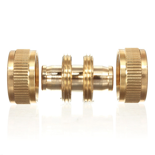 New Arrival Copper Brass 1/2 Garden Washing Water Hose Pipe Connector Joiner Joint Coupler Hot Sale(China (Mainland))