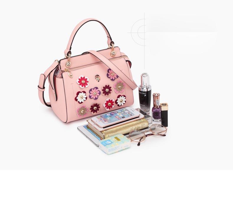 ซื้อ FOXERใหม่Cowhideหนังกระเป๋าแฟชั่นappliqueกระเป๋าหนังแท้แปลงจับกระเป๋าไหล่กระเป๋าmessengerถุงเล็กๆ