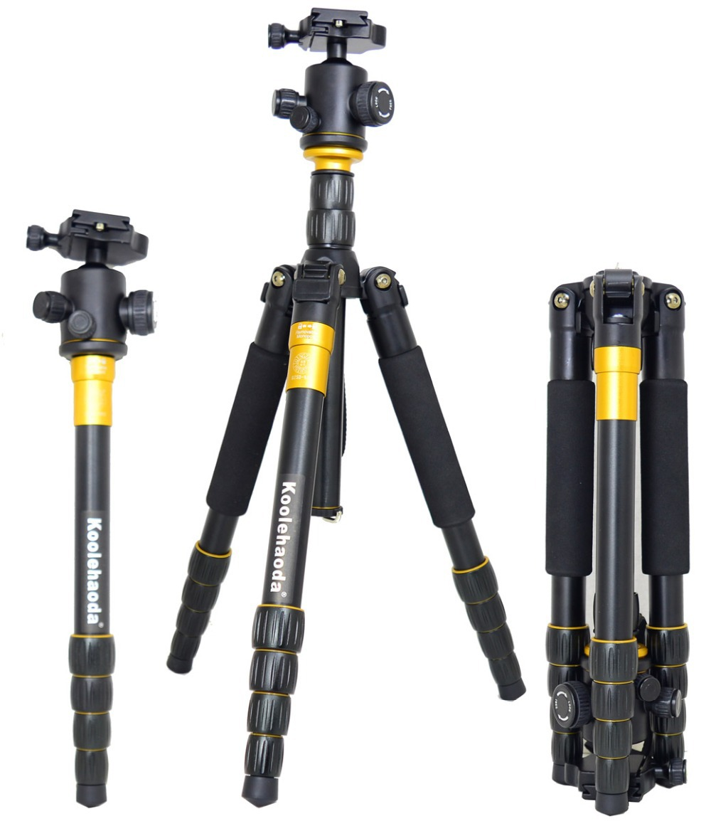 Professional 62 Inch Aluminum Tripod and Ball Head Portable Travel for Dslr, SLR(China (Mainland))