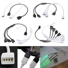 Femenino de la alta Calidad 4 Pin Conector Divisor de Cable Para RGB 3528 5050 Tira Flexible LED Luz Accesorios