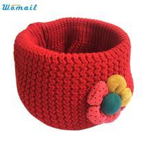 Oct 29 Amazing Flower Winter Kids Scarf Children Fashion Little Boy Girl Ring Scarf Knitted Neck Warmer(China (Mainland))