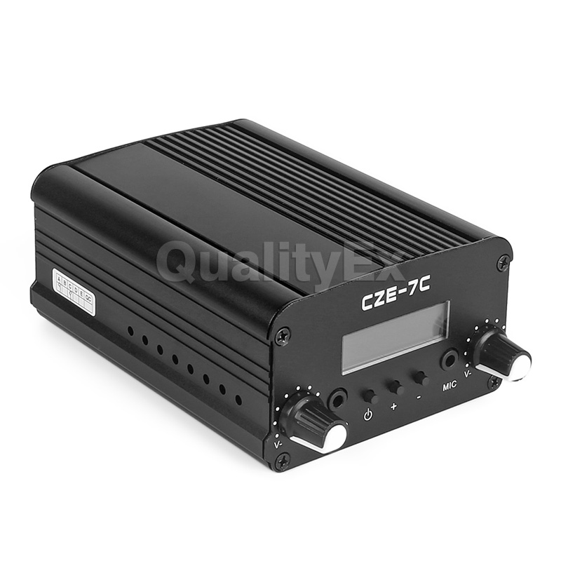SainSonic AX-7C (CZH-7C) 76-108MHz FM Transmitter FCC Stereo PLL Broadcast Radio Station 1W/7W Switchable(China (Mainland))