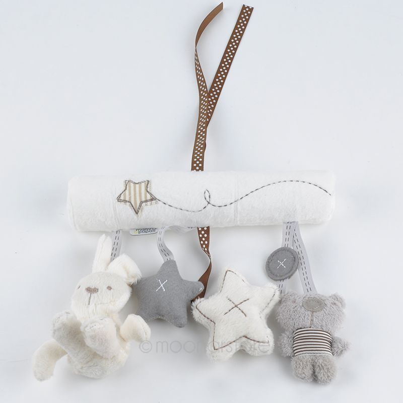 2015 New arrival cot hanging toy, Baby Rattle Toy, Soft Plush Rabbit Musical Mobile Products baby gift XMHM779(China (Mainland))