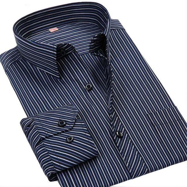 Сорочка Homme 2016 мяукает качество мужской рубашка мода марка полосатой рубашке ...
