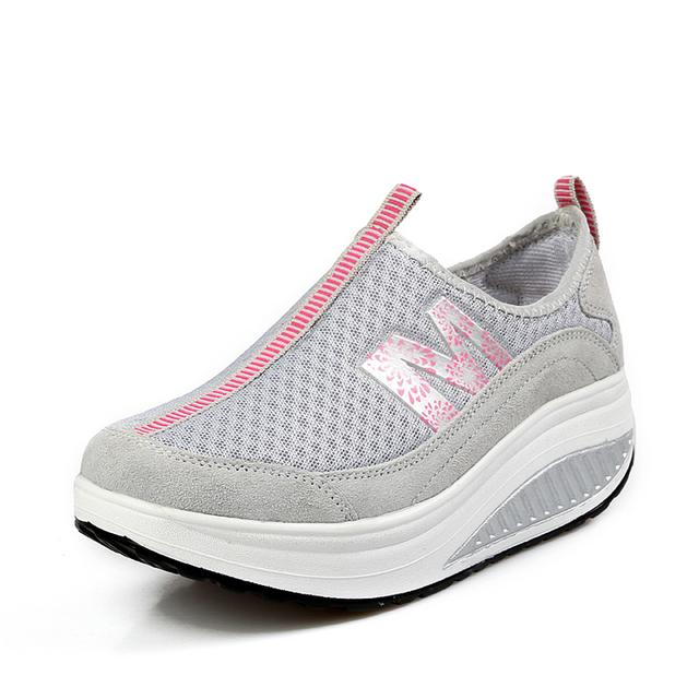 2016 новые ботинки женщин клин бодибилдинг туфли на платформе здоровье похудеть женщины ...