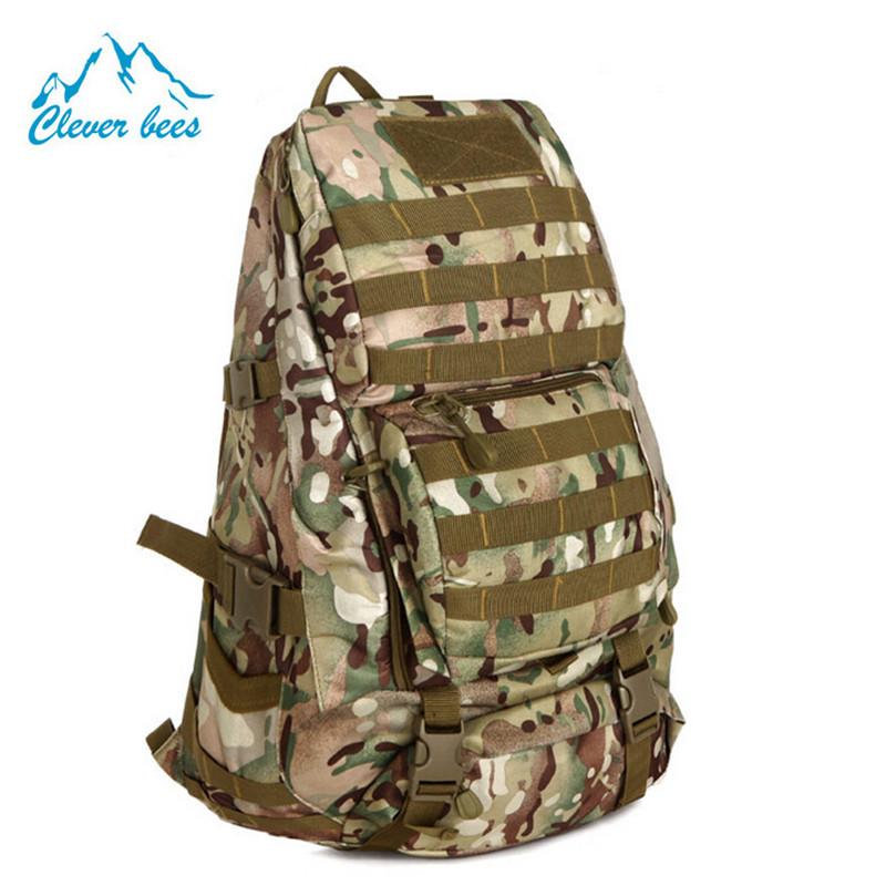 Outdoor Women Camouflage Backpack Canvas Shoulder Bag Man Bag Laptop Bag Multifunction Sport Hiking Tactical Backpack 36-55L<br><br>Aliexpress