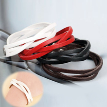 Trendy Body Accessories Twisted Leather Braided Pu Leather Unisex Bracelet 8 Colors