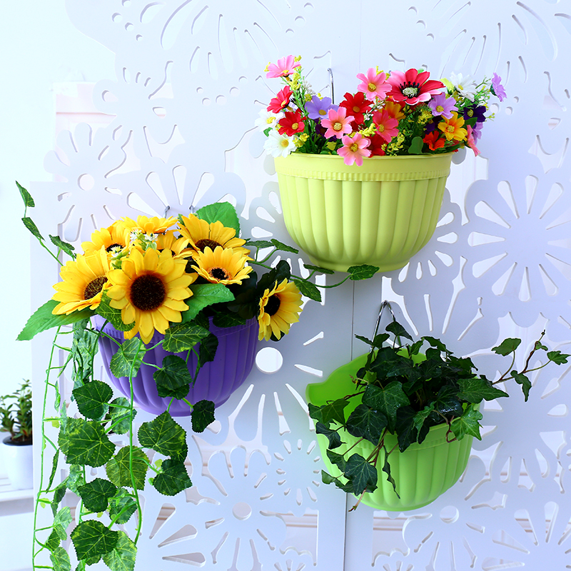 Wall Hanging Flower Pots popular balcony wall flower pot-buy cheap balcony wall flower pot