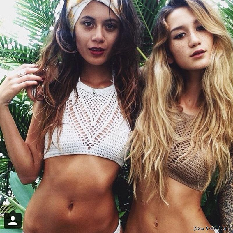 Summer Style Vintage Crochet Crop Top Halter Cropped Knit Beach Camisole Boho Bikini Top Strappy Tank Top Lace Camisole Women(China (Mainland))
