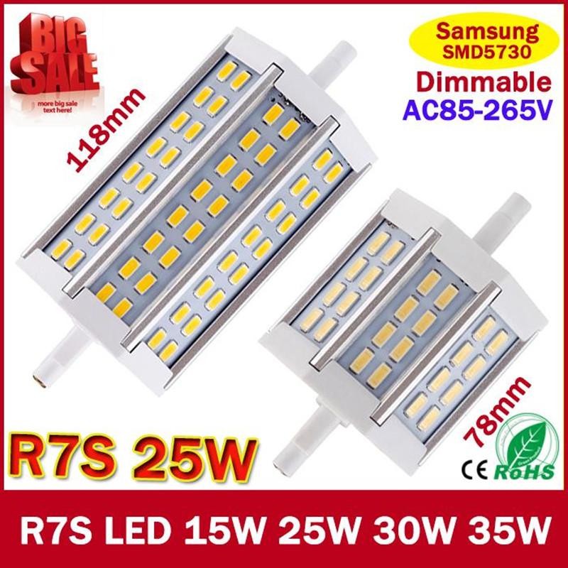 [해외]2015 새로운 R7S LED 15W 25W 35W 크리 SMD5730 디 밍이 가..